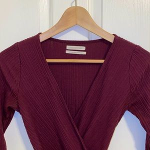 Burgundy Urban Outfitters romper